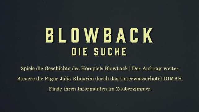 Audio Games: Blowback - Die Suche