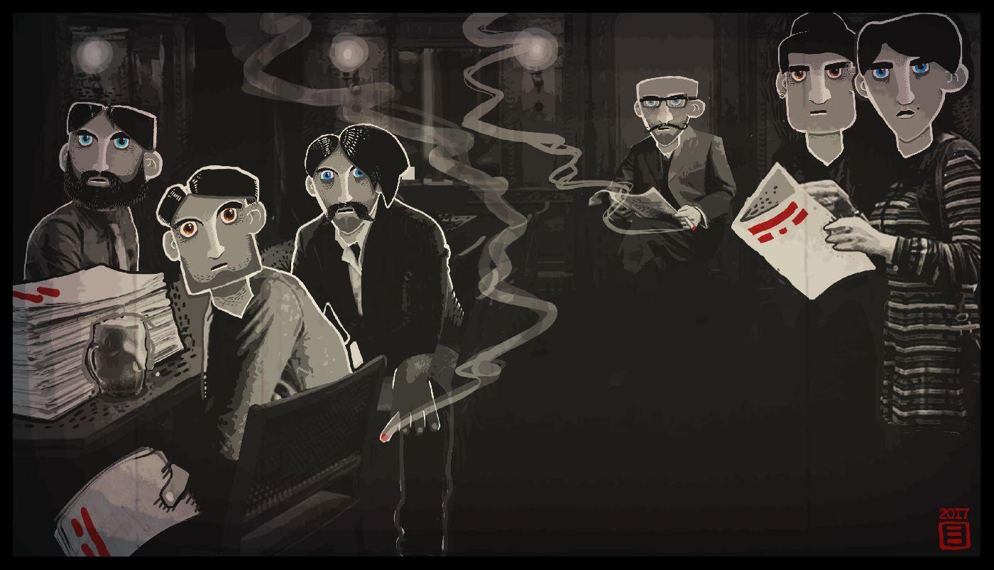 Through the Darkest of Times - Artwork. Bildquelle: Sozialadäquanz: Die Sache mit Hakenkreuz - Titelbild. Quelle: Paintbucket Games