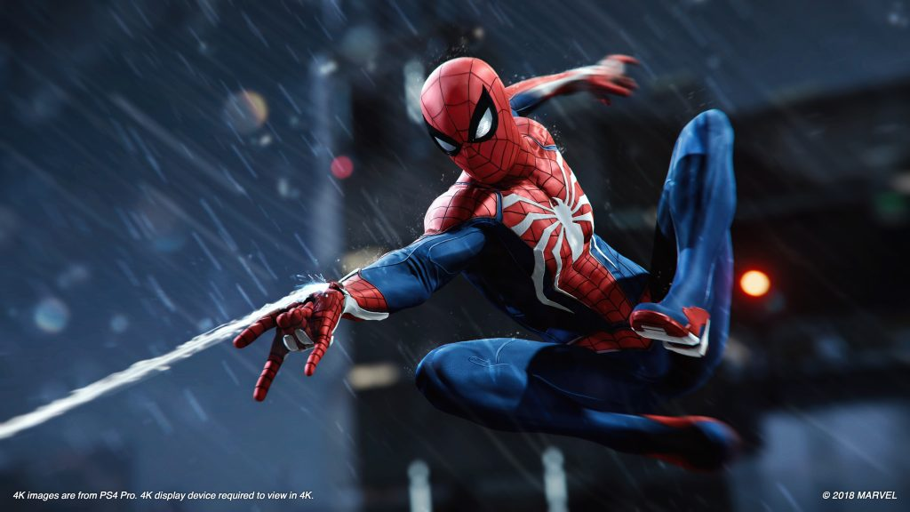 Screenshot von Spider-Man (PS4): Spider-Man bei Nacht
