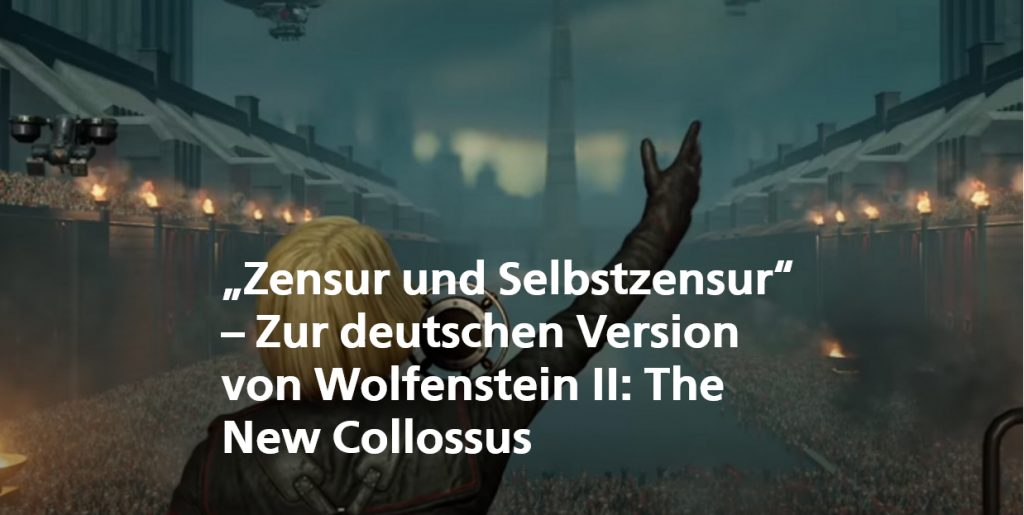 Beitrag Zensur und Selbstzensur auf Grimme Game | Bildquelle: Wolfensetin II: The New Colossus / Bethesda
