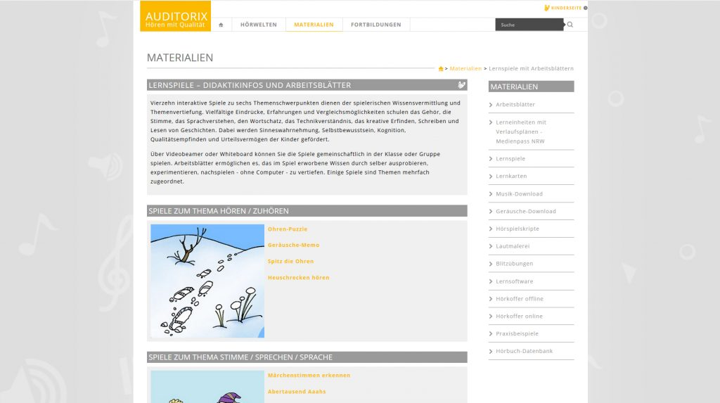 Screenshot der Auditorix-Website