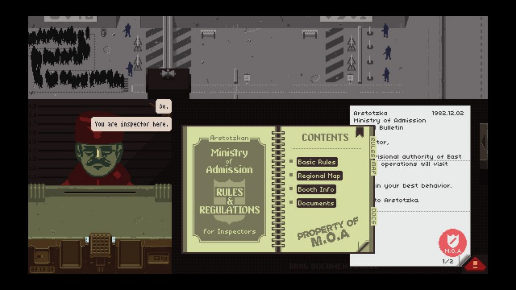 Bildquelle: Papers, Please / Lucas Pope