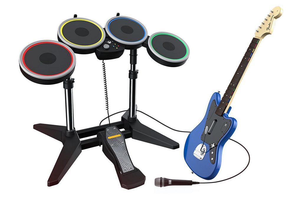 Rockband: Musizieren mit Plastikinstrumenten. Bildquelle: Harmonix/Activision